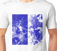 Inverted Blue On White Unisex T-Shirt