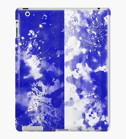 Inverted Blue On White iPad Case/Skin