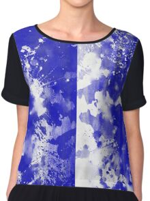 Inverted Blue On White Chiffon Top