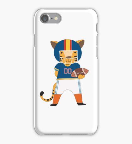 Cartoon Animals Sports Tiger Football Player iPhone Case/Skin