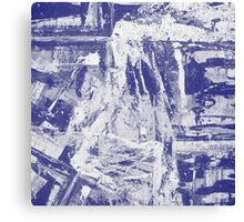 Blue And White Textured Abstract Canvas Print