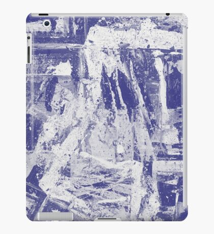 Blue And White Textured Abstract iPad Case/Skin