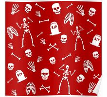 Skeleton Dance in Red Poster