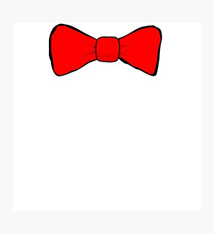 Red Bow Tie Photographic Print