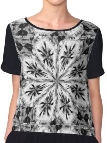 Frosty Snow Flake Kaleidoscope Chiffon Top