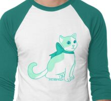 Mint Green Cat Men's Baseball ¾ T-Shirt