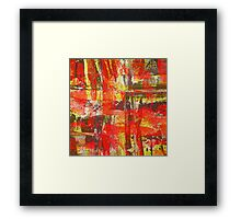 Burning Fire Abstract Painting Framed Print