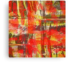Burning Fire Abstract Painting Canvas Print