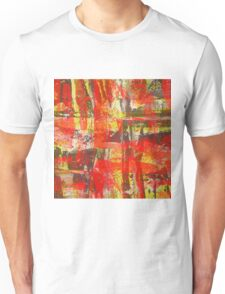 Burning Fire Abstract Painting Unisex T-Shirt