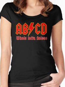 ABC a heavy metal parody funny Women's Fitted Scoop T-Shirt