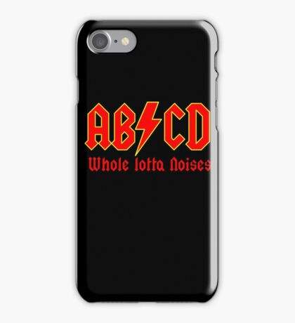 ABC a heavy metal parody funny iPhone Case/Skin