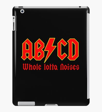 ABC a heavy metal parody funny iPad Case/Skin