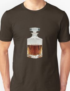 Whiskey Decanter (cut out image) on white background Unisex T-Shirt