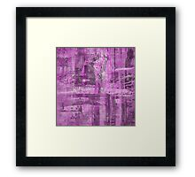 Abstract Study in Purple, pink and black Framed Print