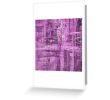 Abstract Study in Purple, pink and black Greeting Card