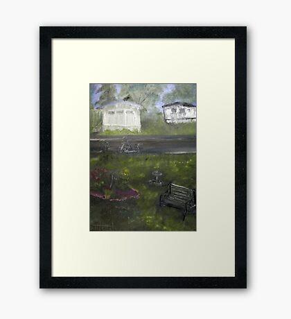 My Backyard - En plein air  Framed Print