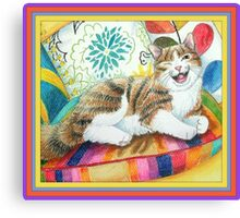 "I am magnificent, from the childrens book "" The magnificent cat"" by Sharon Thompson available on amazon Canvas Print"