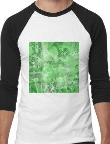 Abstract Study In Green Men's Baseball ¾ T-Shirt