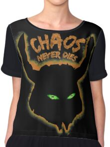 Chaos Never Dies (for black backgrounds) Chiffon Top