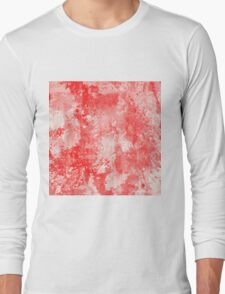 Abstract Study In Red Long Sleeve T-Shirt