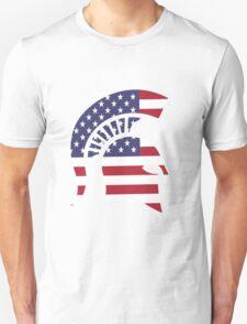 michigan state university michigan spartans MSU american flag america Unisex T-Shirt