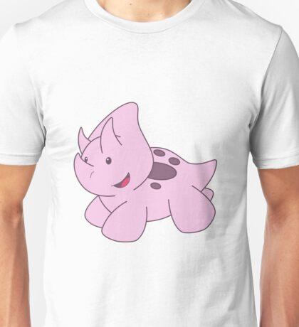 Pink Triceratops Unisex T-Shirt