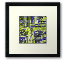Abstract Study In Blue And Yellow Framed Print