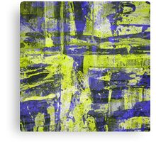 Abstract Study In Blue And Yellow Canvas Print