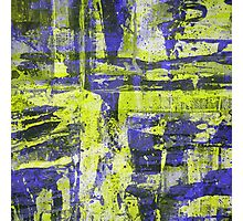 Abstract Study In Blue And Yellow Photographic Print