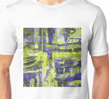 Abstract Study In Blue And Yellow Unisex T-Shirt