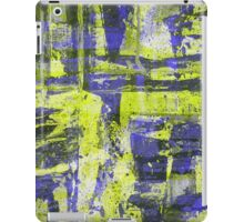 Abstract Study In Blue And Yellow iPad Case/Skin