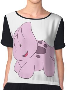 Pink Triceratops Chiffon Top