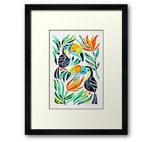 Tropical Toucans Framed Print