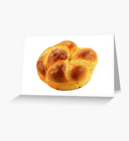 Traditional for Orthodox Christians sweet Easter Bread. Greeting Card