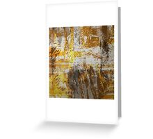 Abstract study in bronze Greeting Card