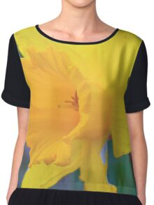 Spring Time Daffodil 2 Chiffon Top