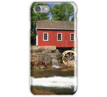 Historical building of Old water sawmill and small dam. iPhone Case/Skin