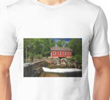 Historical building of Old water sawmill and small dam. Unisex T-Shirt