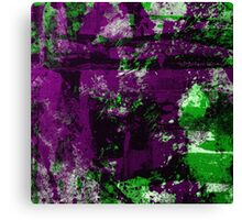 Abstract Study In Green And purple Canvas Print