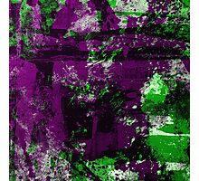Abstract Study In Green And purple Photographic Print