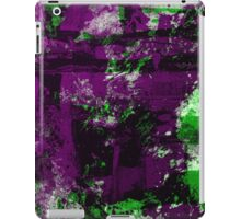 Abstract Study In Green And purple iPad Case/Skin