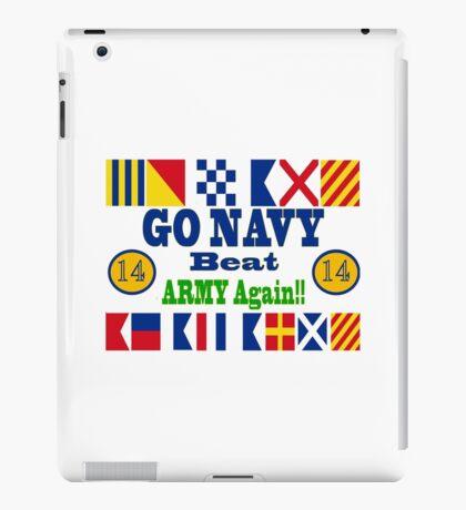 Go Navy Beat Army Again iPad Case/Skin