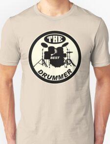 The Best Drummer white black Unisex T-Shirt