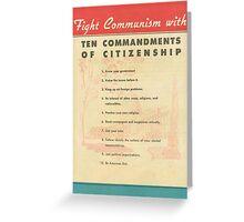 Fight Communism Greeting Card