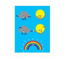 Character Fusion - Rainbow Art Print
