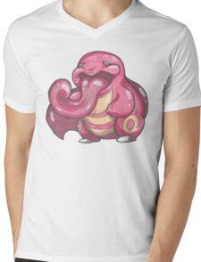 NO PROFIT Lickitung Mens V-Neck T-Shirt