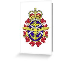 Canadian Forces (CF) Logo Greeting Card