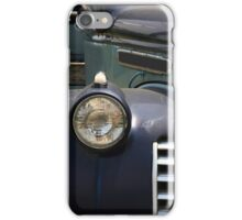 Partial front view of vintage service track. iPhone Case/Skin