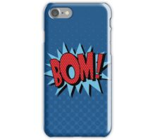 Comics Bubble with Expression Bom in Vintage Style iPhone Case/Skin