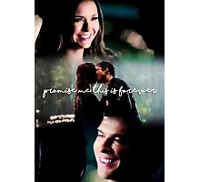 """""""Promise me this is forever"""" - The Vampire Diaries Photographic Print"""